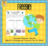 Earth Day Kindergarten Math Extended Response FREEBIE
