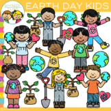 Earth Day Kids Clip Art {Whimsy Clips Earth Day Clip Art}