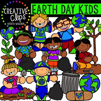 Earth Day Kids {Creative Clips Digital Clipart}