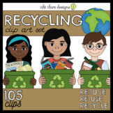 Earth Day Recycling Clip Art Set