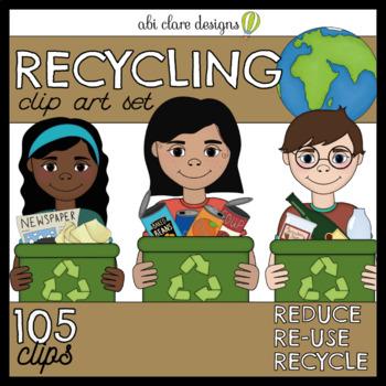 Recycling Clip Art Set