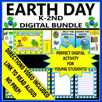 Earth Day - Kindergarten - Digital and Printable Activities