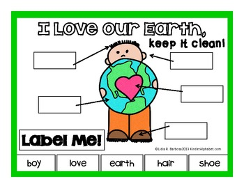 Earth Day Label Me