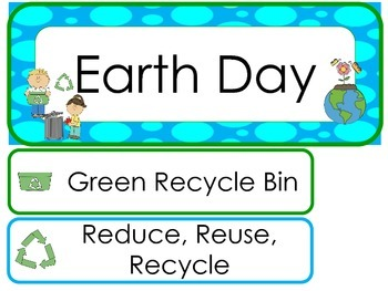 Earth Day Word Wall Weekly Theme Posters.