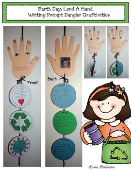 Earth Day: Lend A Helping Hand Writing Prompt Craftivity