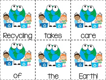 Earth Day: Let's Recycle! Emergent Reader & Centers