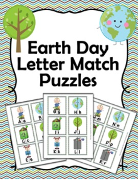 Earth Day Letter Match Puzzles