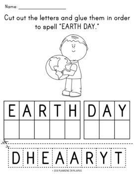 Earth Day Letter Scamble