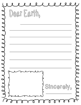 Earth Day Letter Template