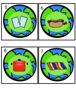 Earth Day Literacy Center -- CVC Write the Room