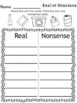Earth Day Literacy Center - Nonsence Word Pocket Chart Center