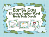 Earth Day Literacy Center Word Work Task Cards with Bonus Frame