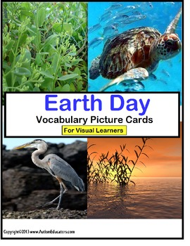 Earth Day Literacy Center Writing Vocabulary Picture Cards