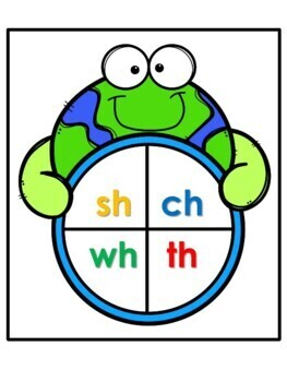Earth Day Literacy Center - Diagraph Spinners