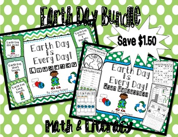 Earth Day Literacy Centers & Math Printables Bundle {CC Aligned}