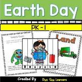 Earth Day Literacy Centers and Worksheets for Preschool, Pre-K, and Kindergarten