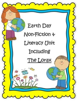 Earth Day Literacy Including The Lorax