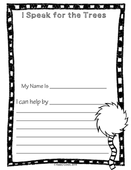 Earth Day Literacy Pack - The Lorax