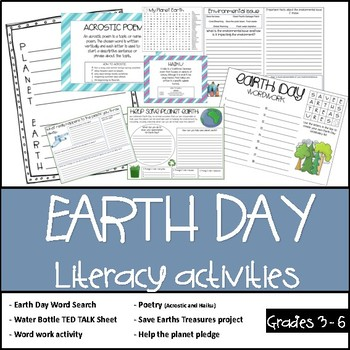 Earth Day - Literacy activities