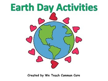 Earth Day Literacy and Math Station Activities