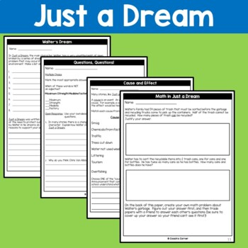 Earth Day Literature Unit for Just a Dream and The Great Kapok Tree