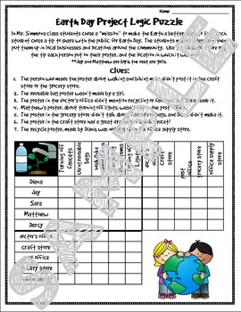 Earth Day Logic Puzzles