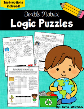 Earth Day Logic Puzzles -  Double Matrix