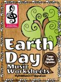 Earth Day MUSIC Sheets: dynamics, rhythms & tempo (FREEBIE