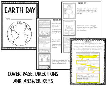 Earth Day - Main Idea and Details Activities
