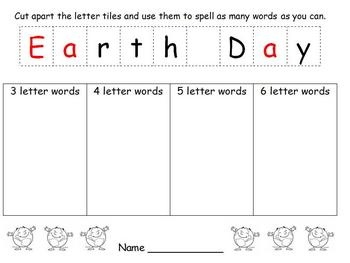 Earth Day - Making Words