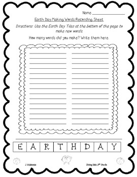Earth Day Making Words Freebie
