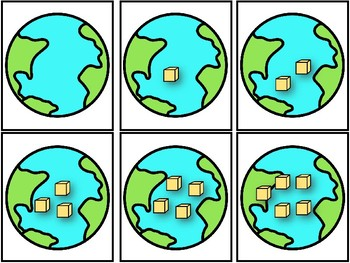 Earth Day Match Up! Matching Numbers and Arrangements to 20