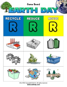 Earth Day Matching Bingo Game + Flashcards