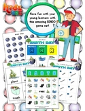 Earth Day Matching Bingo Game + Flashcards