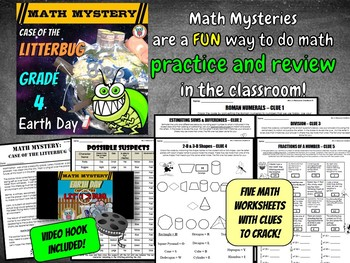 Earth Day Activity: Case of the Litterbug (Grade 4 Earth Day Math)
