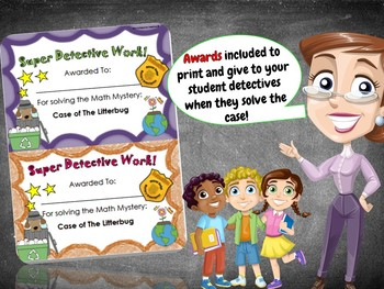 Earth Day Math Activity: 1st Grade Earth Day Math Mystery - Distance Learning