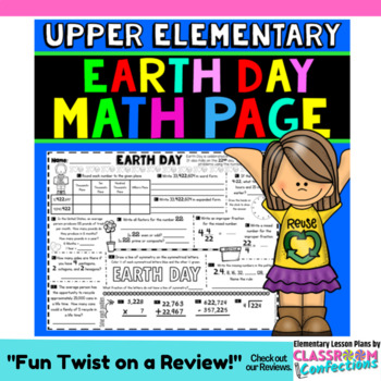 Earth Day Math: Worksheet Activity