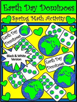 Earth Day Game Activities: Earth Day Dominoes Spring Math Activity Packet