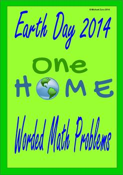 Earth Day Math Activities Worded Problems