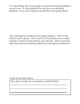 Earth Day Math Activity {FREEBIE}