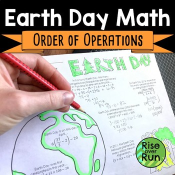 Earth Day Math Activity: Order of Operations