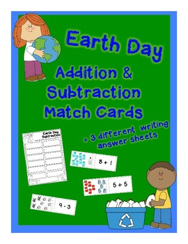 Earth Day Math Center: Adding & Subtracting