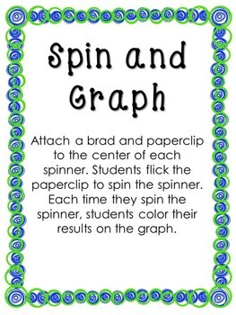 Earth Day Math Center - Spin and Graph