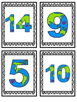 Earth Day Math Center- Tally Mark Center