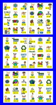 Earth Day Math Centers:  Addition Fact Activities