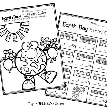 Earth Day Math Centers, Printables, and Exit Tickets