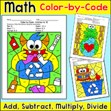 Earth Day Math Color by Code Bundle - Earth Day Activities