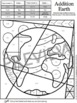 Earth Day Math Fact Coloring Sheets - Fun Earth Day Activity!