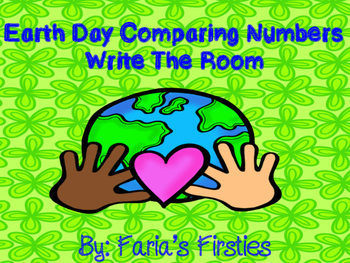 Earth Day Math Comparing Numbers Write the Room Game