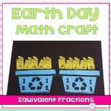 Earth Day Math Craft Equivalent Fractions